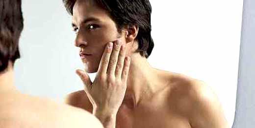 Depilação masculina face